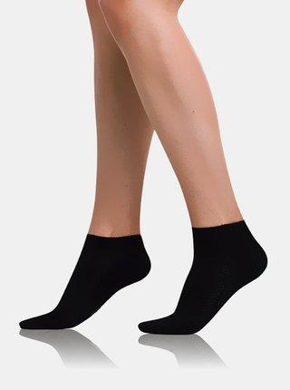 Dámske členkové ponožky BAMBUS AIR LADIES IN-SHOE SOCKS - Krátke dámske bambusové ponožky - čierna