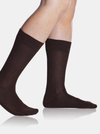 Pánské ponožky BAMBUS COMFORT SOCKS - Bambusové klasické pánské ponožky - hnědá