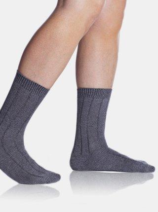 Pánské zimní ponožky BAMBUS WINTER SOCKS - Pánské zimní bambusové ponožky - šedá