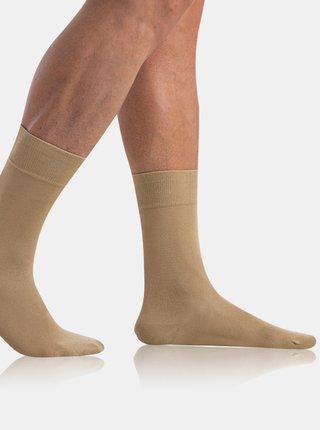 Pánské ponožky BAMBUS COMFORT SOCKS - Bambusové klasické pánské ponožky - béžová