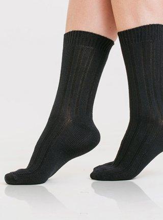 Dámské zimní ponožky BAMBUS WINTER SOCKS - Dámské zimní bambusové ponožky - černá