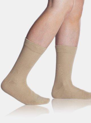 Pánské ponožky FIT (HEALTHY) SOCKS - Zdravotní pánské ponožky - béžová