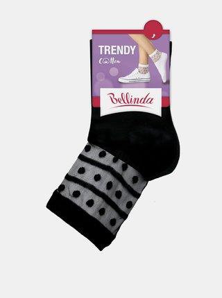 Dámské ponožky TRENDY COTTON SOCKS - Dámské ponožky s ozdobným lemem - bílá
