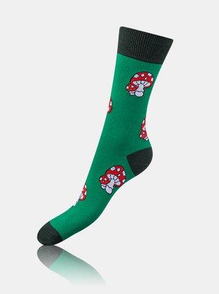 Bláznivé ponožky CRAZY SOCKS BOX - Dárková krabička zábavných crazy ponožek 4 páry - červená
