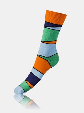 Bláznivé ponožky CRAZY SOCKS BOX - Dárková krabička zábavných crazy ponožek 4 páry - modrá