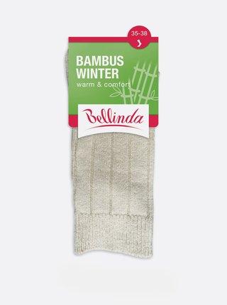 Dámske zimné ponožky BAMBUS WINTER SOCKS - Dámske zimné bambusové ponožky - čierna