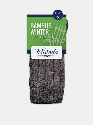 Pánské zimní ponožky BAMBUS WINTER SOCKS - Pánské zimní bambusové ponožky - černá