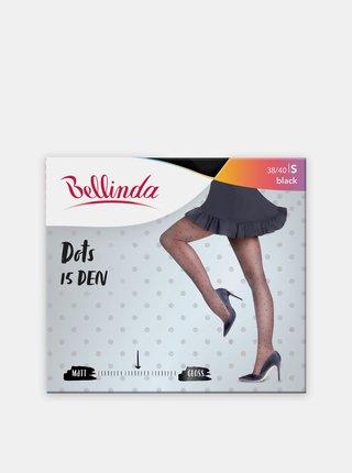 Punčochové kalhoty s puntíky DOTS 15 DEN  - černá Bellinda