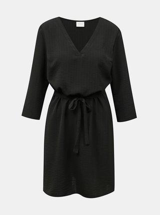 Čierne šaty so zaväzovaním VILA Lovie