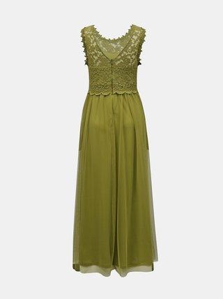 Zelené maxišaty s krajkovým topom VILA Lynnea