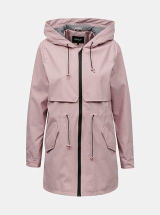 Světle růžová voděodolná bunda ONLY
