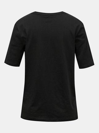 Černé tričko s potiskem ONLY Ivy