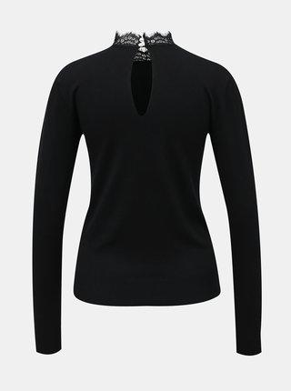 Černý svetr s krajkou VILA