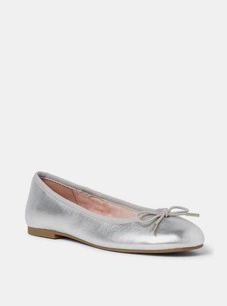 Baleríny ve stříbrné barvě Tamaris