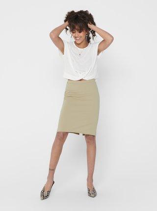 Béžová pouzdrová sukně ONLY Tina
