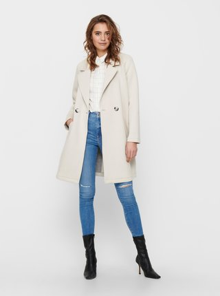 Krémový kabát ONLY Bernadette