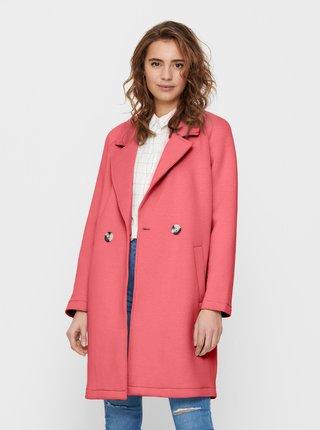 Dámský růžový kabát ONLY