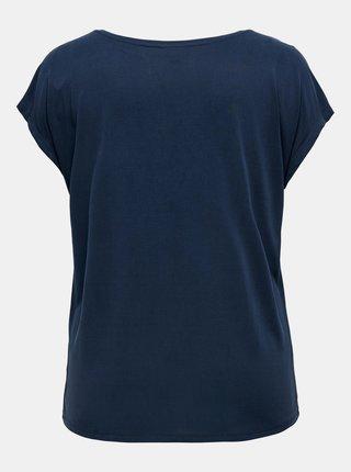 Tmavomodré tričko ONLY CARMAKOMA Nicky