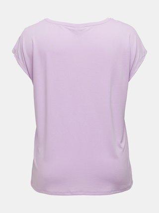 Světle fialové tričko ONLY CARMAKOMA Nicky