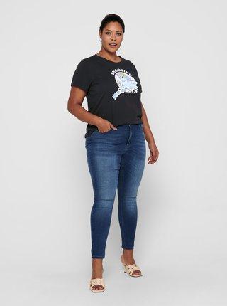 Tmavě šedé tričko s potiskem ONLY CARMAKOMA Pony
