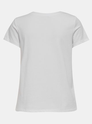 Bílé tričko s potiskem ONLY Happy