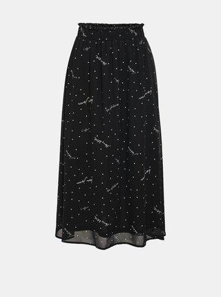 Čierna vzorovaná midi sukňa ONLY Tracy