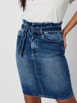 Modrá pouzdrová džínová sukně ONLY Hush