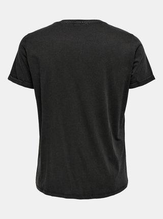 Čierne tričko s potlačou ONLY CARMAKOMA Emily