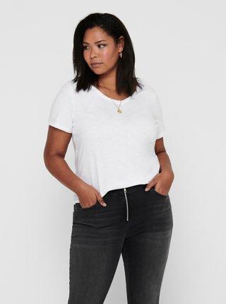 Bílé basic tričko ONLY CARMAKOMA Bonnie