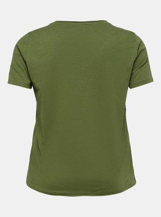 Zelené basic tričko ONLY CARMAKOMA Bonnie
