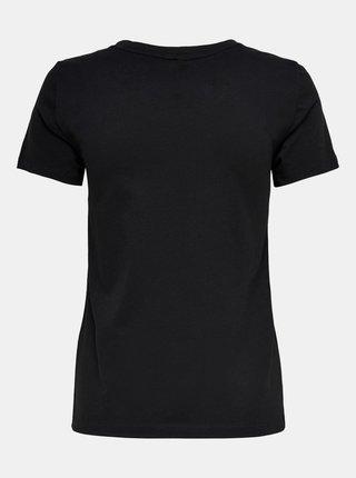 Čierne tričko s potlačou ONLY Kita