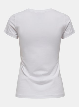 Bílé tričko s potiskem ONLY Love