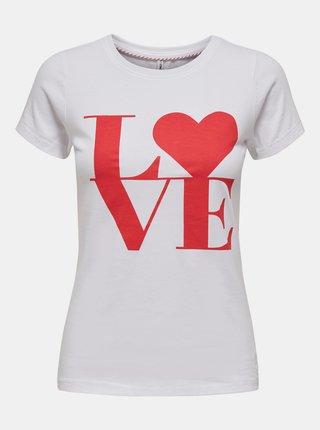 Biele tričko s potlačou ONLY Love