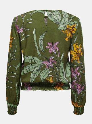 Zelená kvetovaná blúzka ONLY Palm