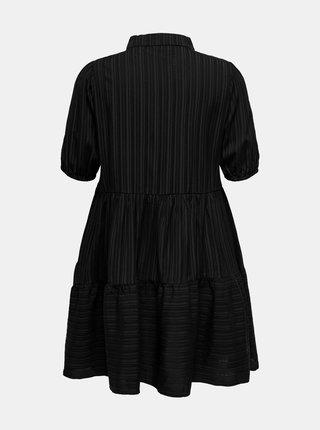 Černé košilové šaty ONLY CARMAKOMA Sanni