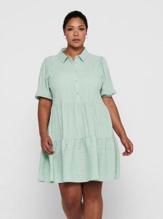 Mentolové košilové šaty ONLY CARMAKOMA Sanni