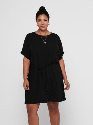 Čierne šaty so zaväzovaním ONLY CARMAKOMA Jackie