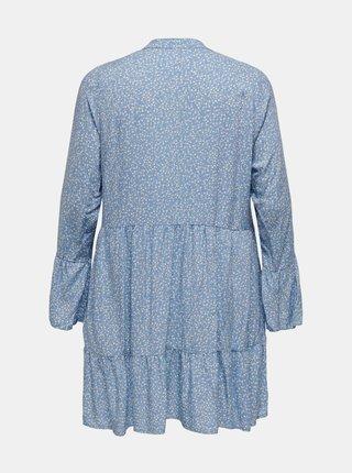 Světle modré vzorované šaty ONLY CARMAKOMA Lolli