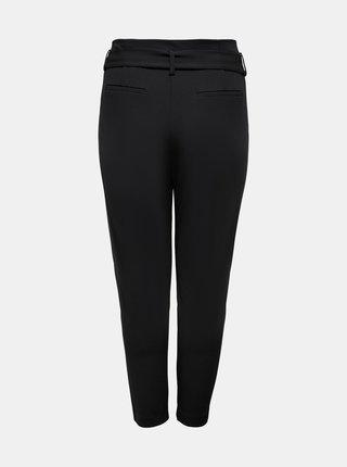 Černé zkrácené kalhoty se zavazováním ONLY CARMAKOMA Carolinus
