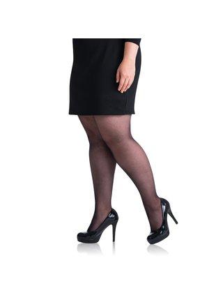 Punčochové kalhoty PLUS SIZE 20 DEN - Punčochové kalhoty pro nadměrné velikosti - černá