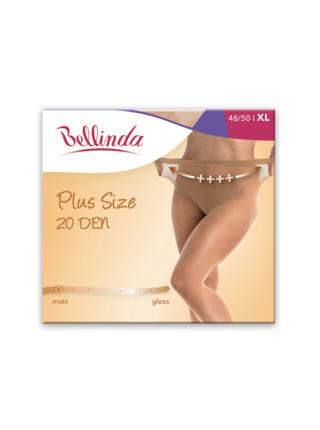 Punčochové kalhoty PLUS SIZE 20 DEN - Punčochové kalhoty pro nadměrné velikosti - almond