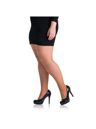 Punčochové kalhoty PLUS SIZE 20 DEN - Punčochové kalhoty pro nadměrné velikosti - amber