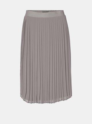Šedá plisovaná sukně VERO MODA Nori