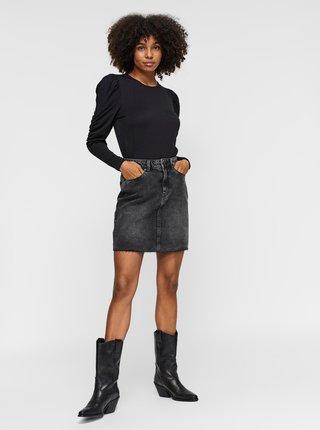 Černá džínová sukně VERO MODA Mikky