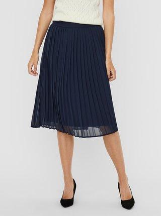 Tmavě modrá plisovaná sukně VERO MODA Nori