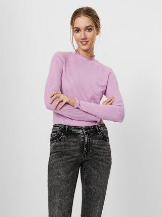Světle fialové tričko se stojáčkem VERO MODA Maya
