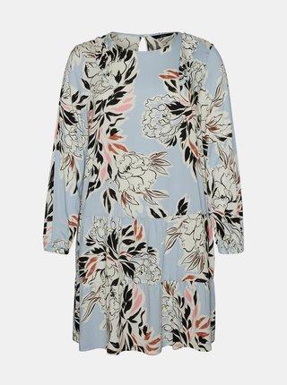 Světle modré květované šaty VERO MODA CURVE Manki