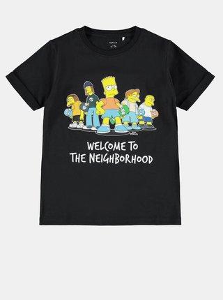 Černé dětské tričko s potiskem name it Simpsons