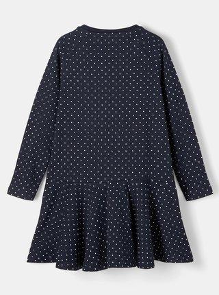 Tmavomodré dievčenské bodkované šaty name it Valentina