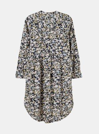 Tmavomodré dievčenské kvetované šaty name it Barilisa